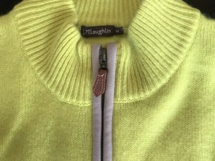 Brand New 100% Cashmere ¼-zip sweater – Size M