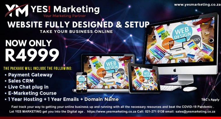 Website Fully Designed & Setup